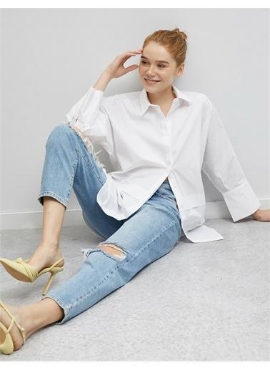 Koton %100 Pamuk Gömlek Beyaz